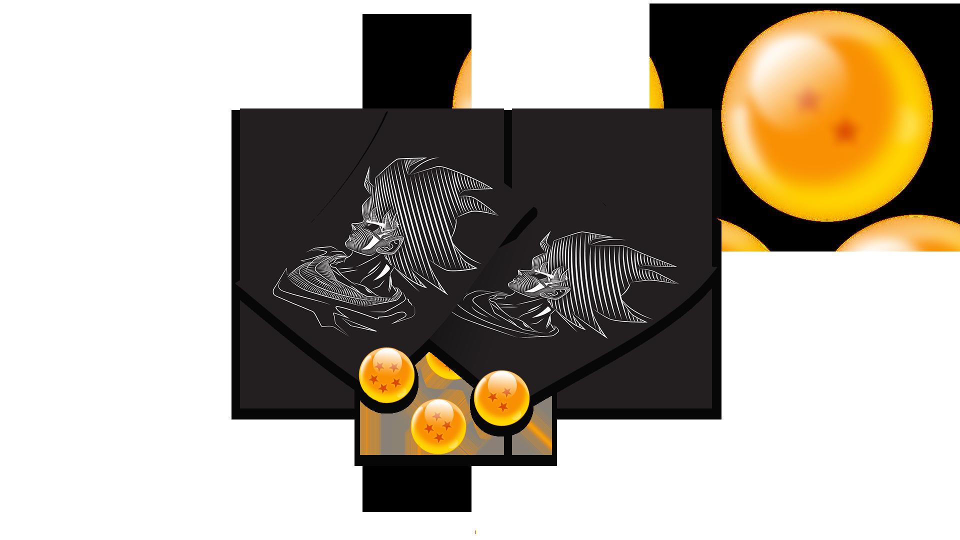 Affiche a4 de Sangoku avec Dragon Balls