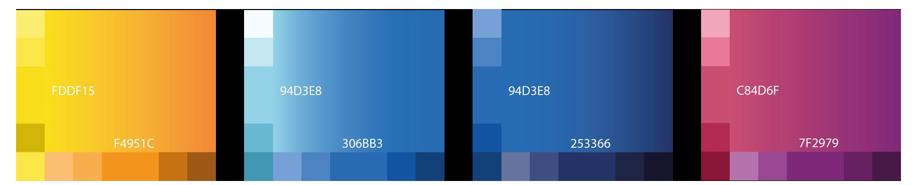 Palette de couleurs utilisées pour le logo