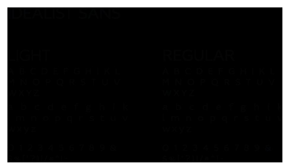 Police de caractères utilisée pour le logotype