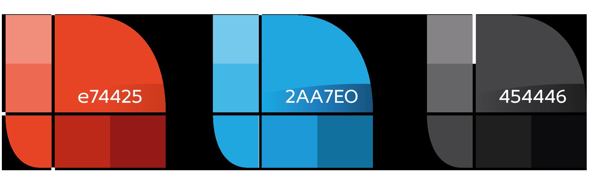 Palette de couleurs du logo