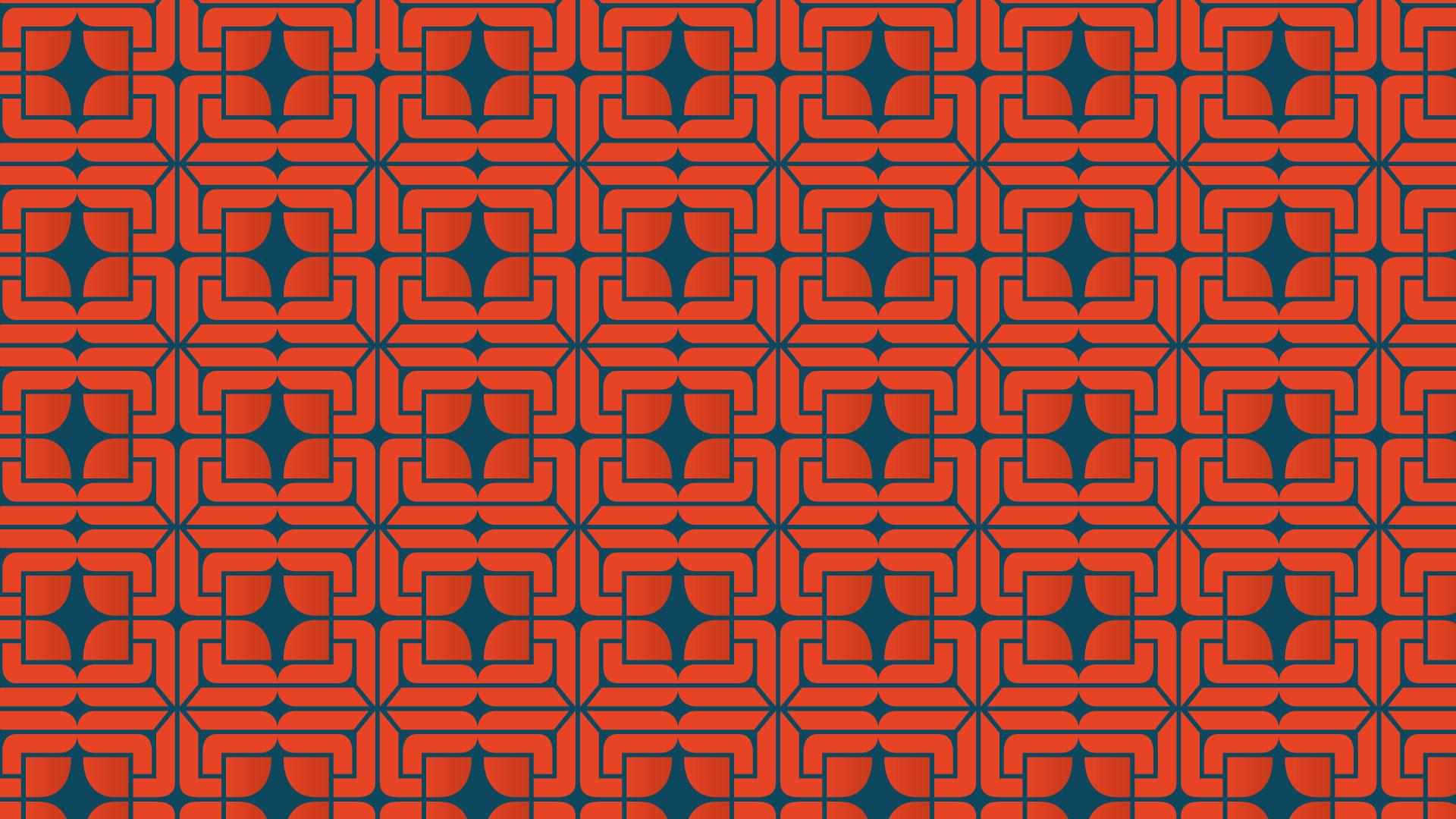 Pattern identité visuelle en utilisant le logo