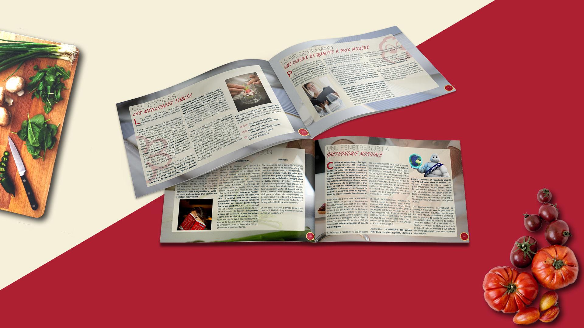 Dossier de presse guide michelin pages intérieurs