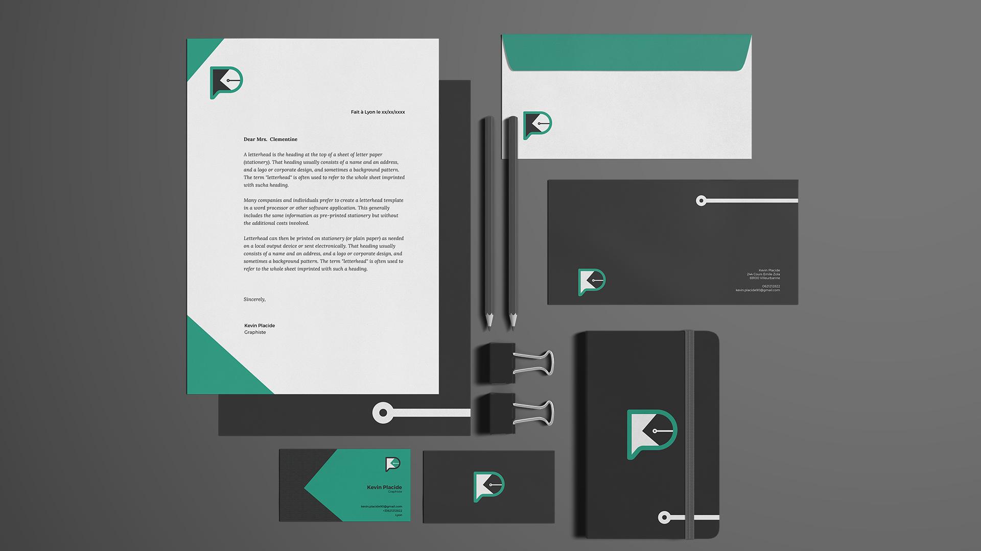 Identité visuelle rebranding Kevin Placide