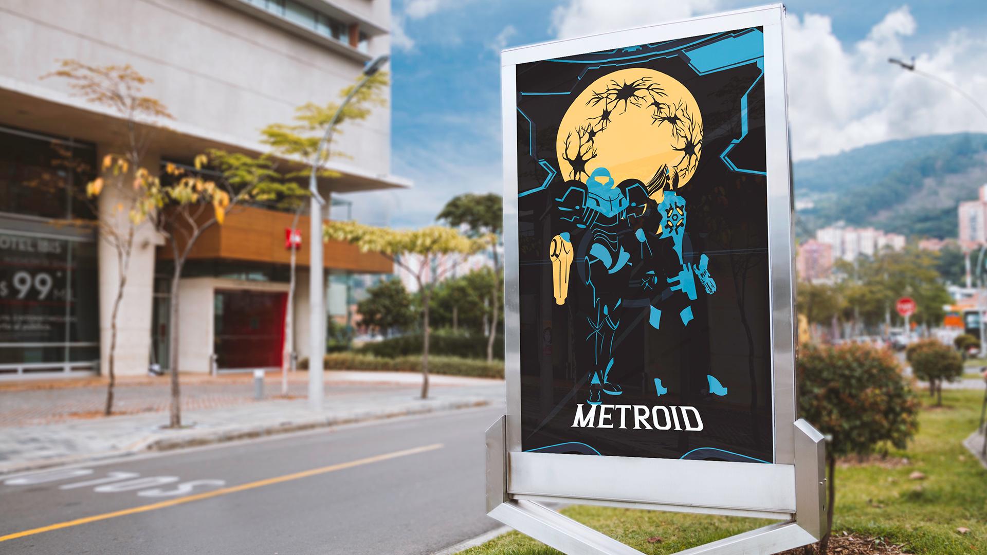 Affiche extérieur Métroid