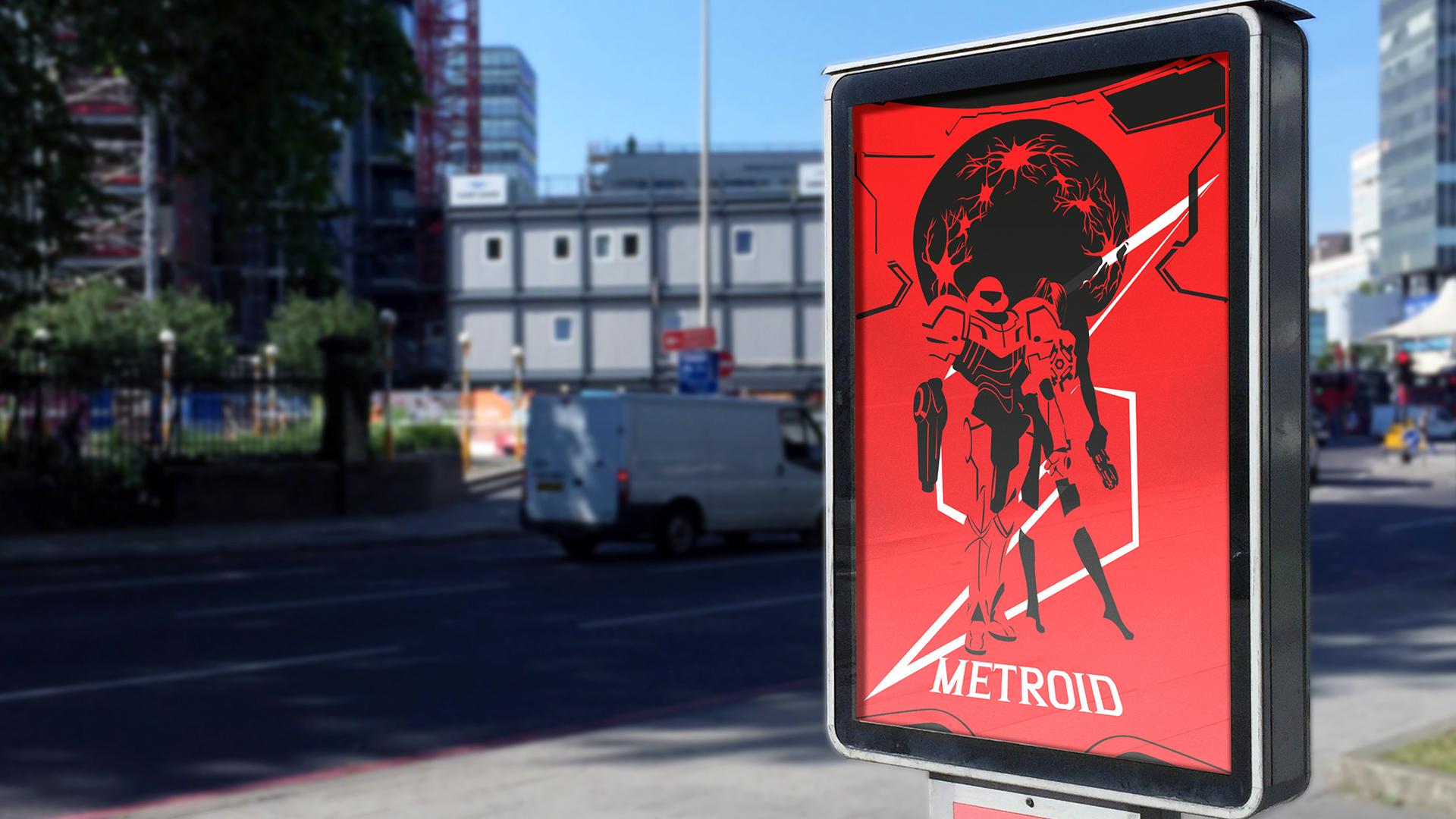 Affiche alternative extérieure Metroid