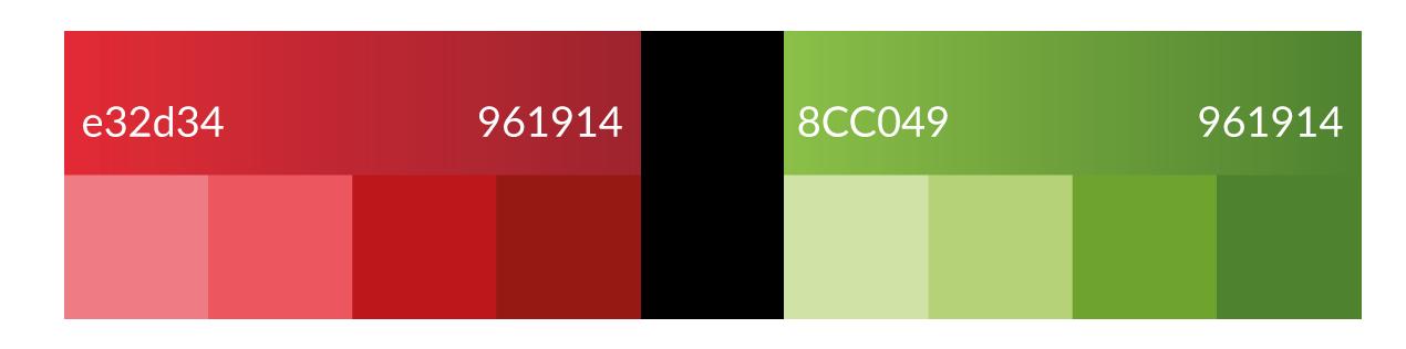 Palette de couleurs pour le logo Palmarosa