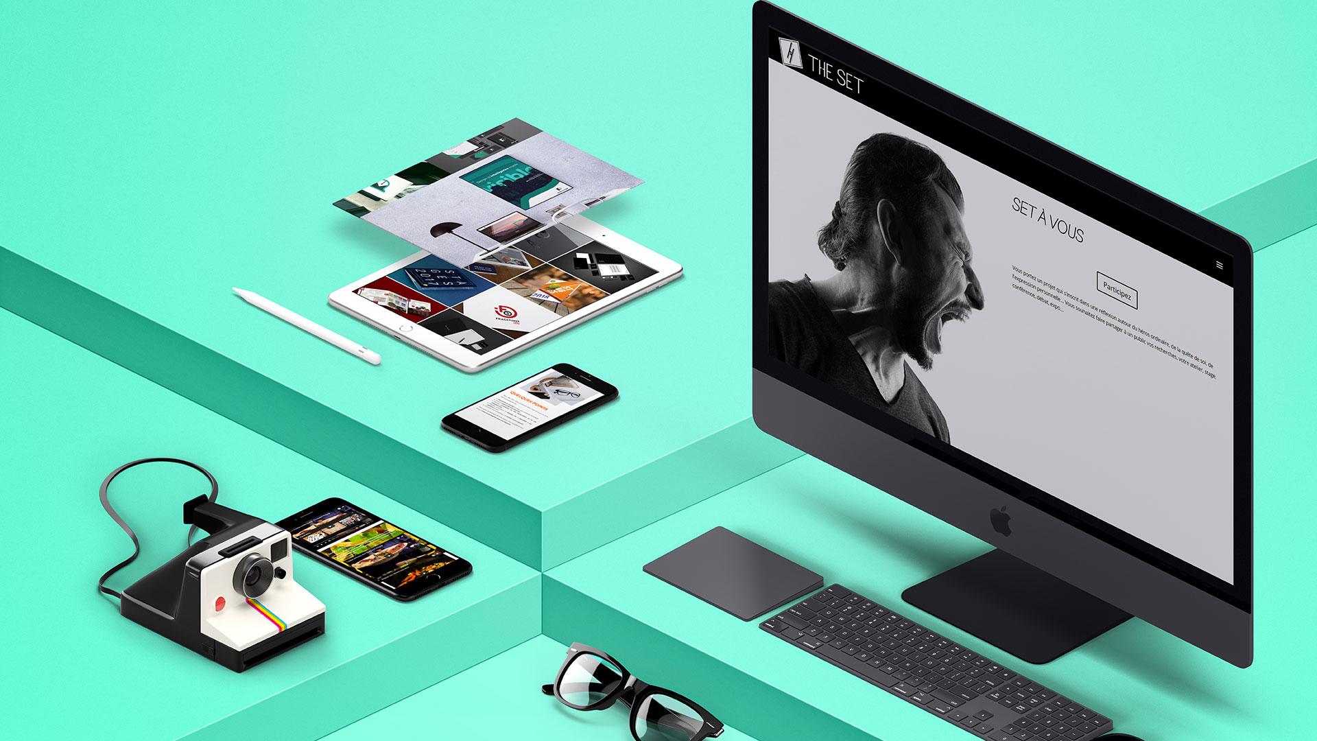 Présentation de plusieurs sites sur différents écrans