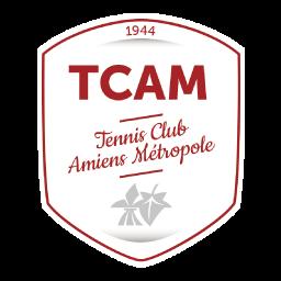 logo blanc tcam, tennis club amiens métropole