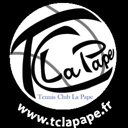 Logo blanc club de tennis TCLP