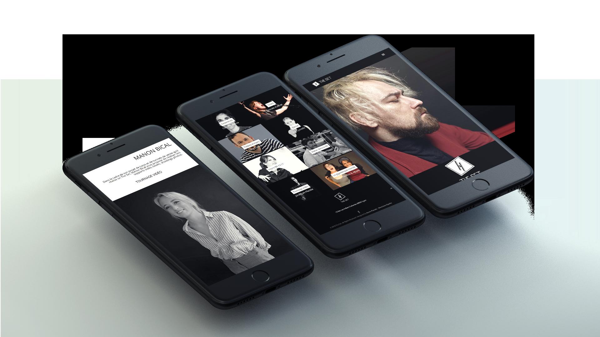 Version mobile du site The Set