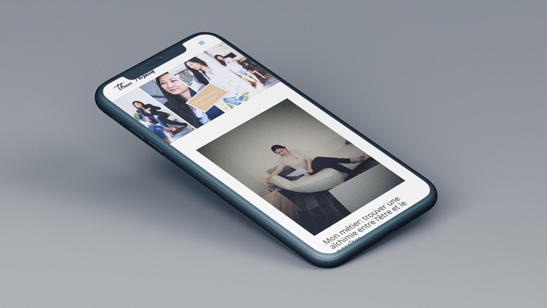 Version mobile du site thivan phasourath