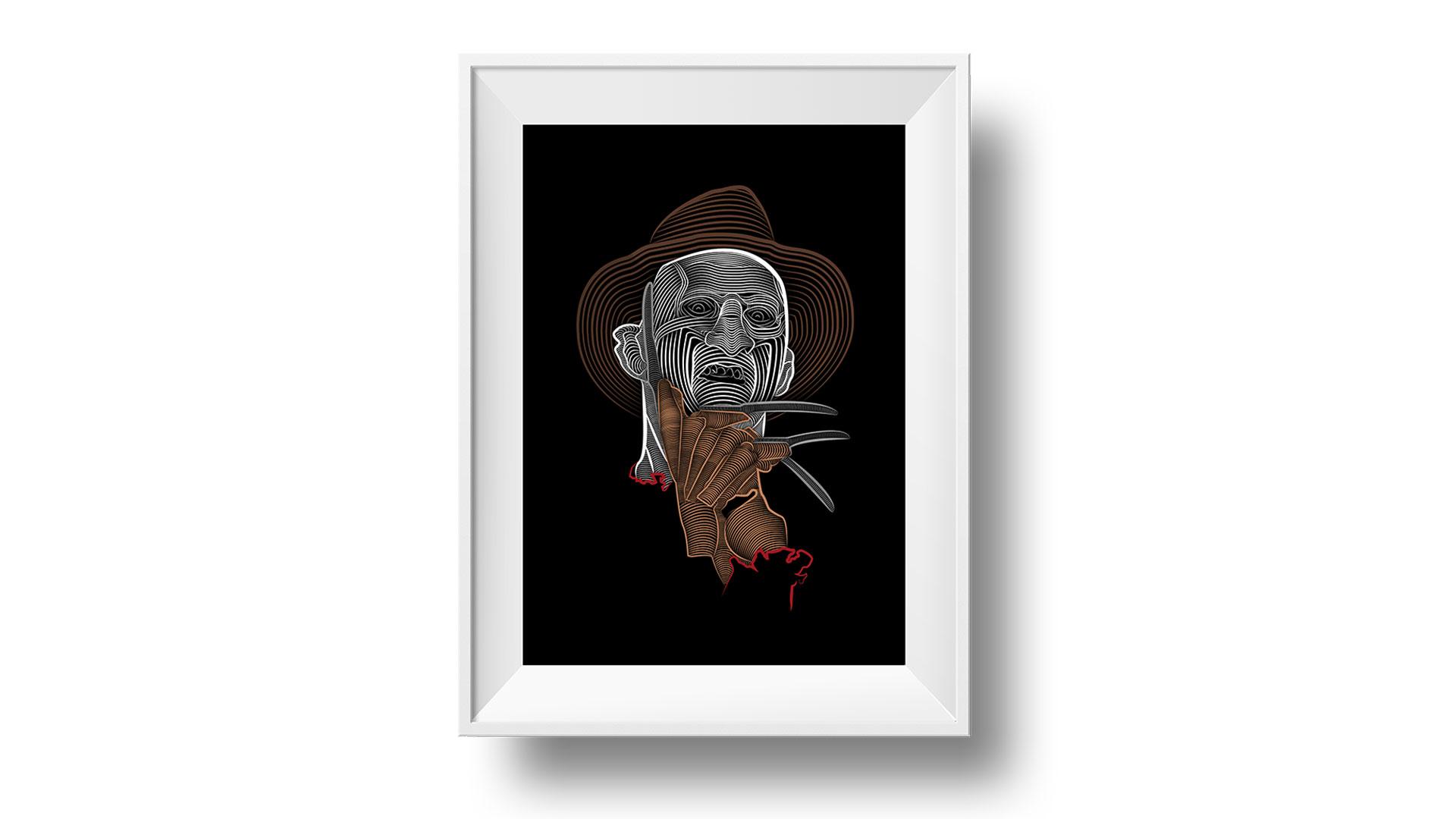 Illustrations boogeymen pour halloween