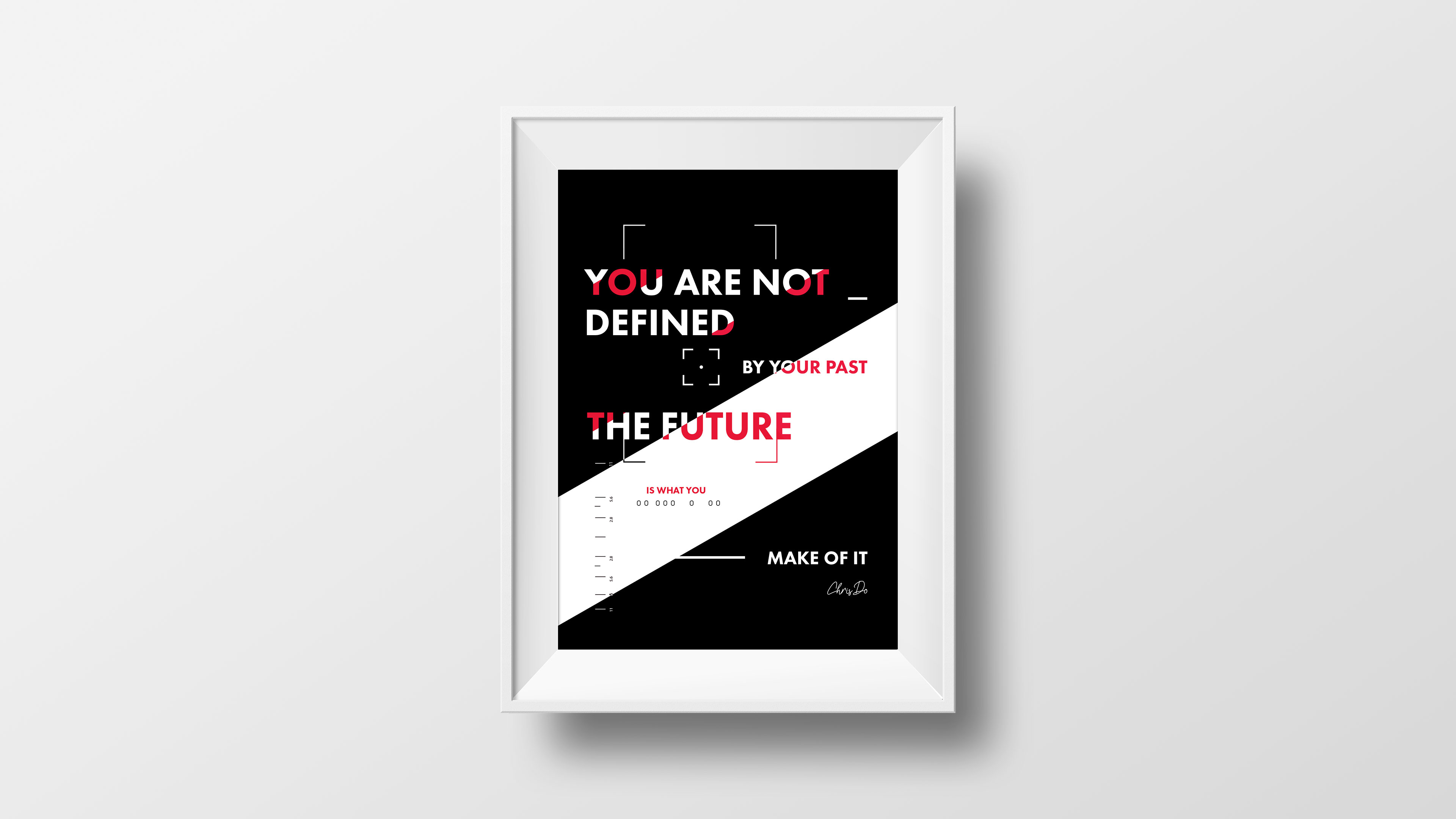 Cadre affiche You are not defined by your past