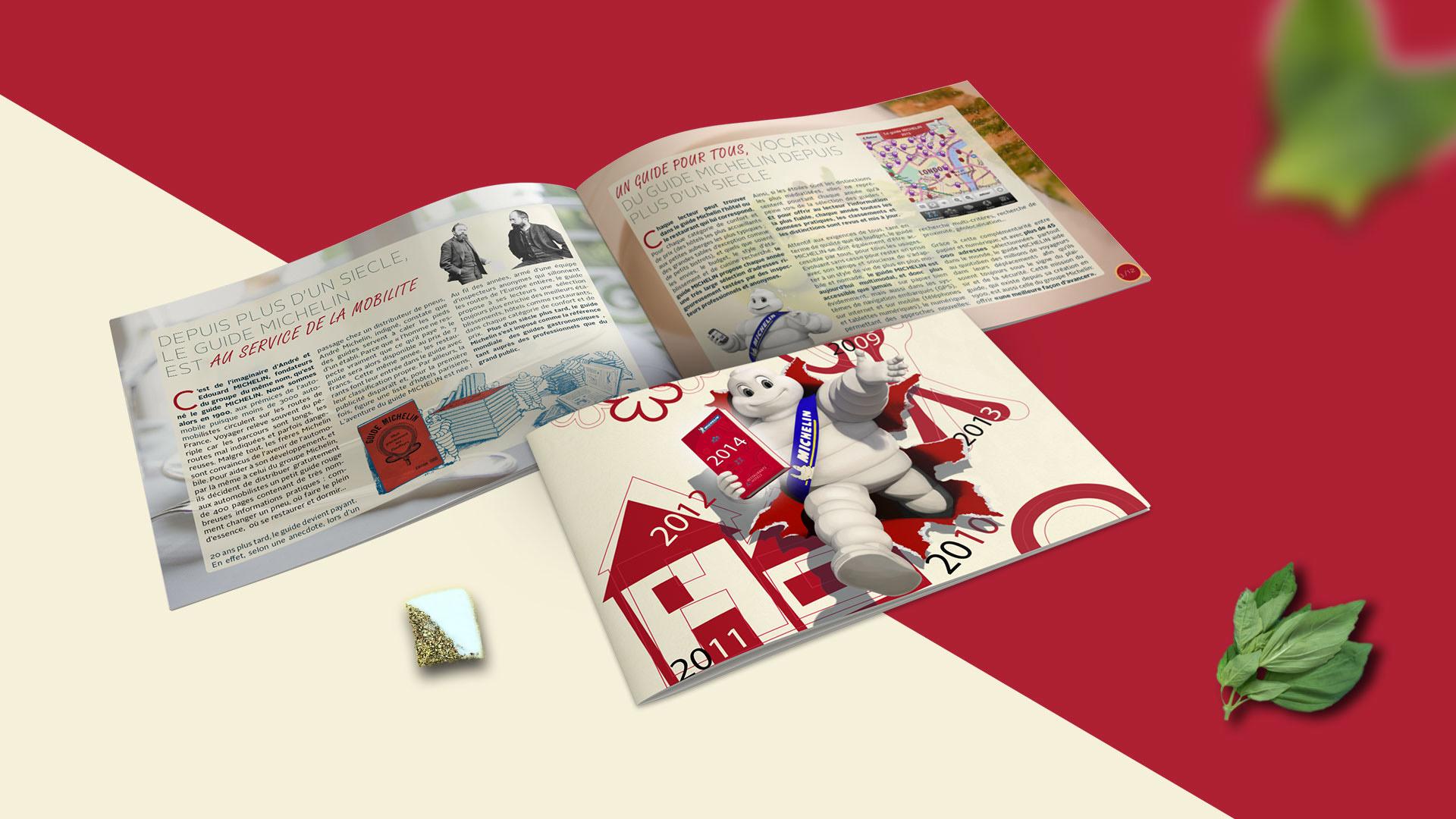 Couverture brochure guide michelin et pages intérieurs