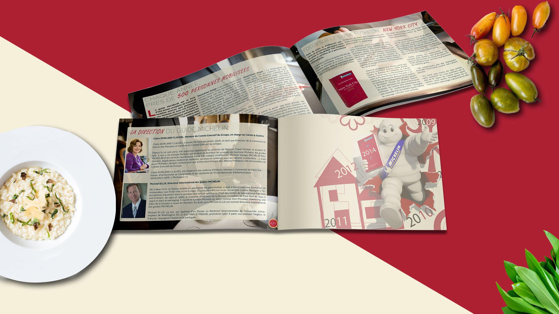 Pages intérieurs brochure michelin