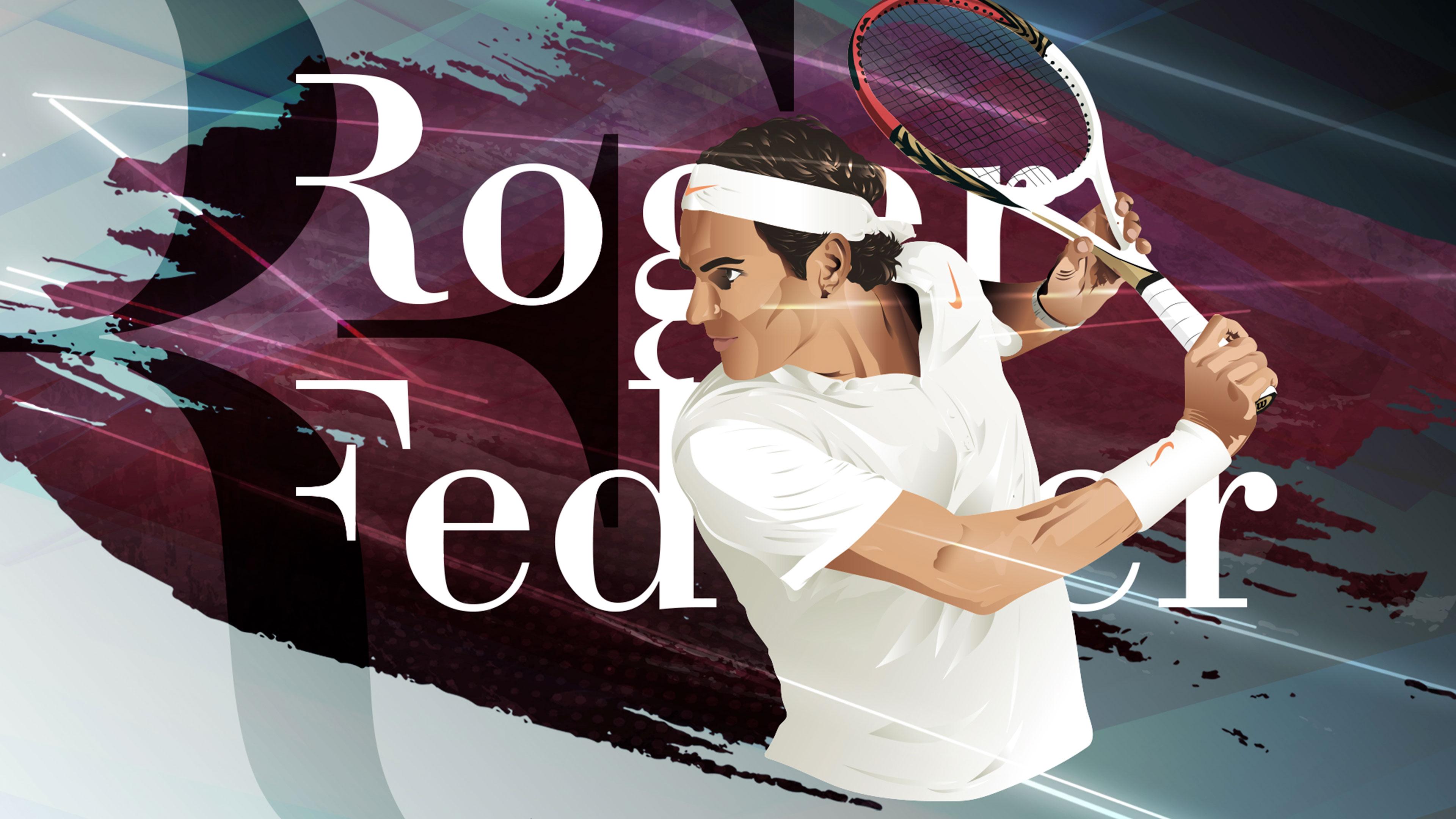 Création personnelle Roger Federer