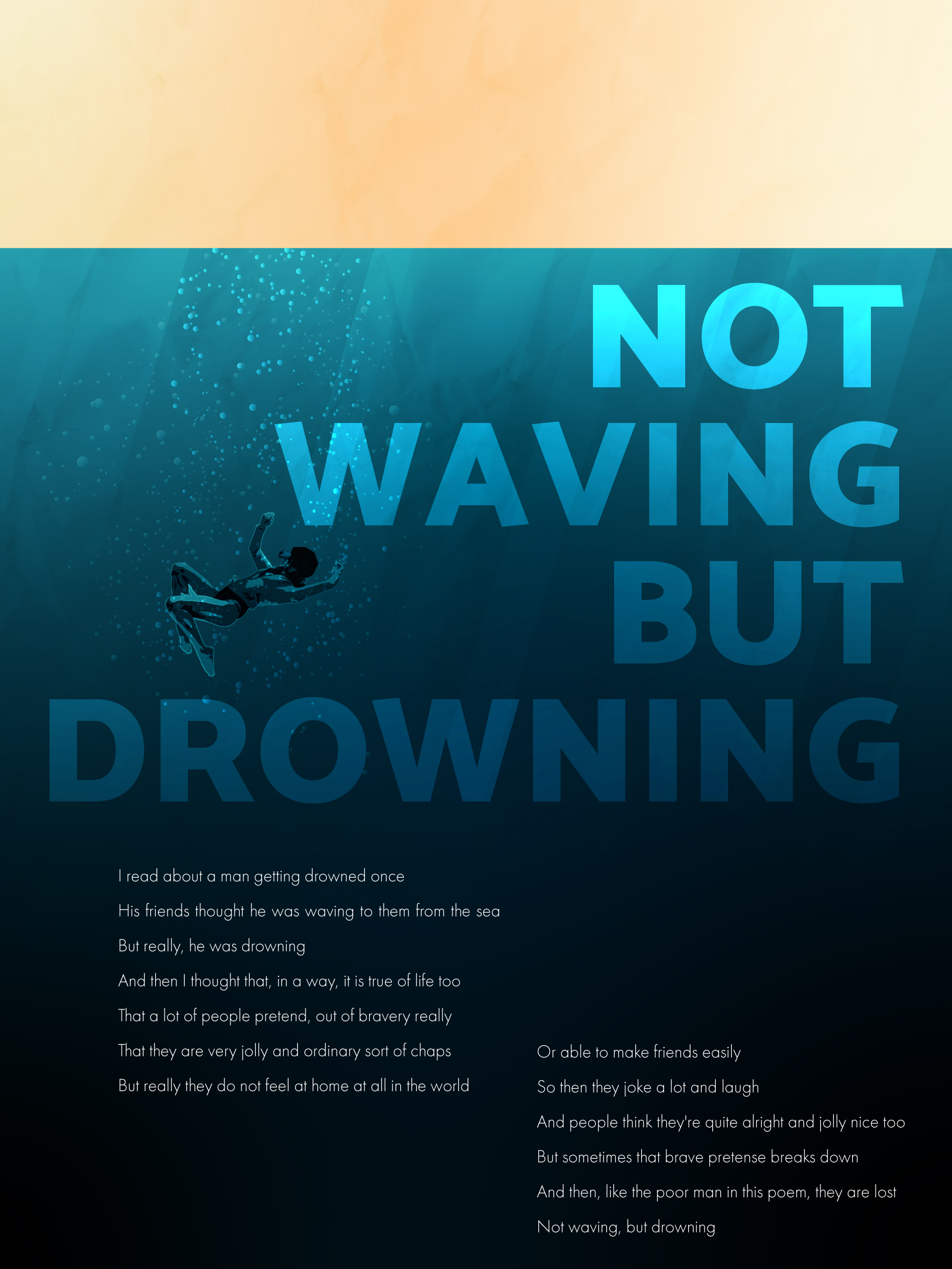 Affiche Not Waving But Drowning Variant