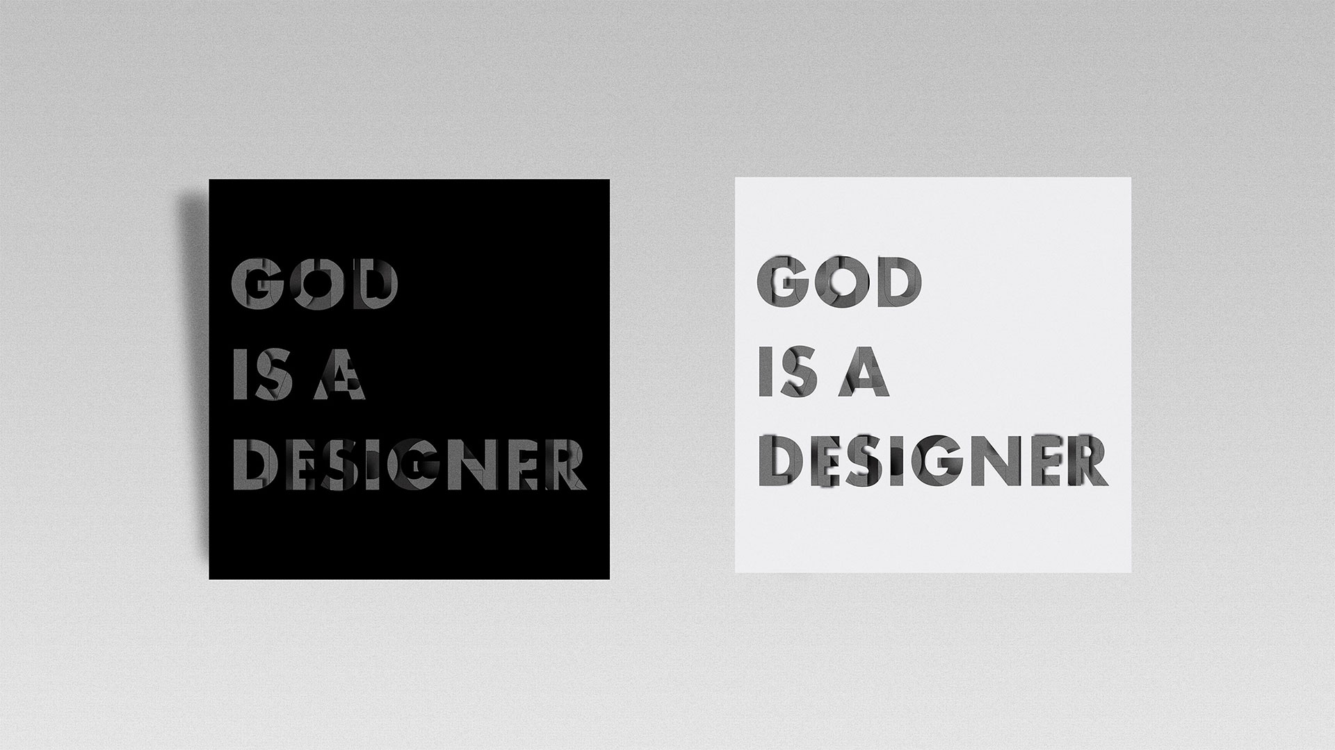 Affiche typographique God Is A Designer
