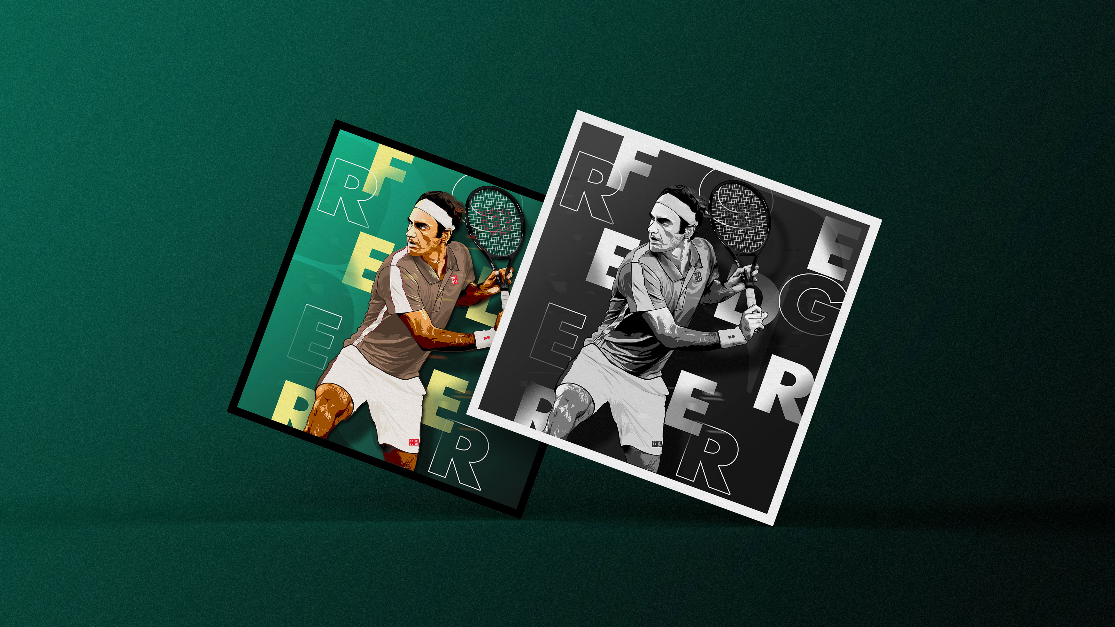 Illustration Roger Federer