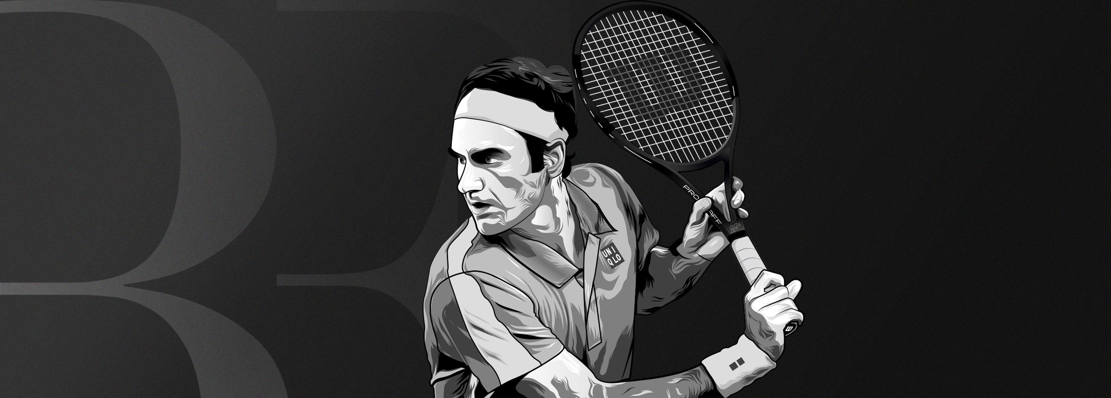 Affiche tableau Roger Federer